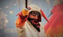 El correfoc infantil de la Festa Major de Montblanc en imatges