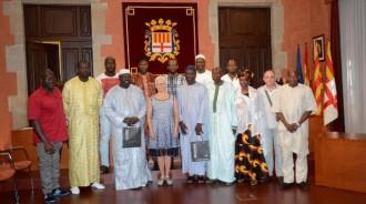 L'Ajuntament de Manresa rep una delegació de personalitats del Senegal