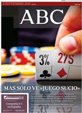 Vés a: «Mas sólo ve 'juego sucio'», a la portada de l'«ABC»