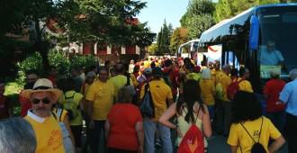 L'ANC Conca omple mil places d'autocar per anar a la Via Lliure
