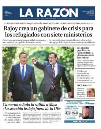Vés a: «Los alcaldes populistas se 'batasunizan' y piden un cambio más radical», a la portada de «La Razón»