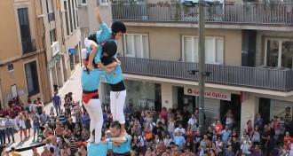 Diumenge turquesa per celebrar els 35 anys dels Castellers de Terrassa