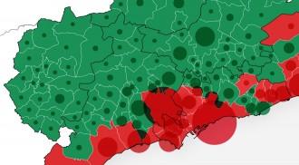 La costa diu «no» i l'interior del Camp de Tarragona vota un «sí» clar