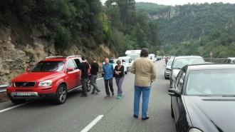 Quatre ferits lleus en un accident de trànsit a la C-17, a Aiguafreda