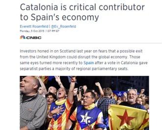 La CNBC creu que si Catalunya s'independitza s'emportarà una part important del poder econòmic d'Espanya