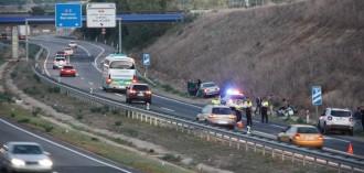 Tres accidents múltiples a Lleida i a Tàrrega amb 15 vehicles implicats compliquen la circulació a l'A-2