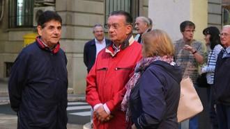 L'exlíder del PP ebrenc Josep Curto, a la concentració pel 9-N de Tortosa