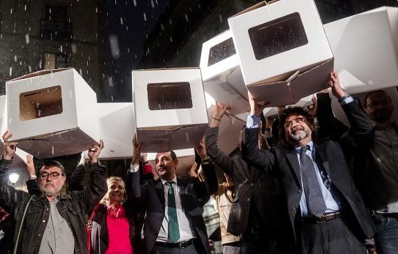 Concentració de suport als imputats pel 9N