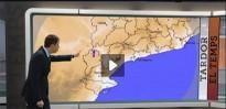 El Radar meteorològic capta una gran volada d'aus entrant per la Terra Alta
