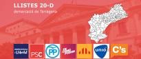 Les llistes de les eleccions del 20-D a Tarragona, amb noms i cognoms