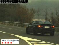 Imputat un conductor per anar a 190 km/h en un tram de 90 a Peramola