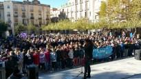 Valls diu «no» a la violència masclista