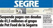 «Suspèn pagaments amb deutes de 61,5 milions el grup de Pet Food de la Segarra», al Segre