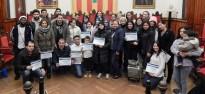 Lliurament dels diplomes de coneixement de la societat catalana