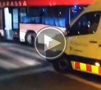 VÍDEO Un atac de tos, causa de l'accident d'un autobús a Terrassa