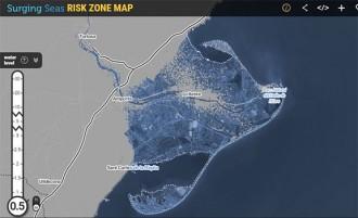 Un mapa interactiu mostra el delta de l'Ebre inundat arran del canvi climàtic