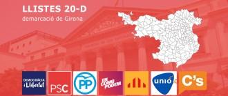 Les llistes de les eleccions del 20-D a Girona, amb noms i cognoms