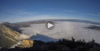 Time-lapse de la boira escapant de la Conca de Tremp