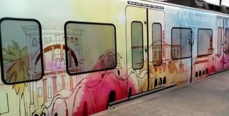 Masia Freixa i la façana de la Pia al tren de FGC de Terrassa