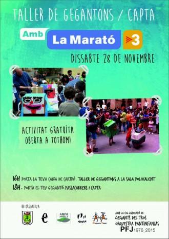 Taller de Gegantons i Capta per la Marató de TV3