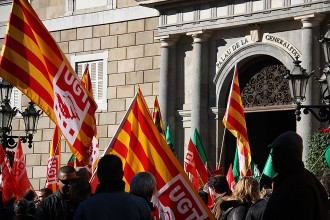 Vés a: Treballadors públics es manifesten per reclamar el retorn de la paga extra