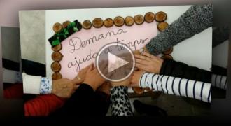 L'Ajuntament de Berga difon un vídeo contra la violència de gènere i penja un gran llaç lila