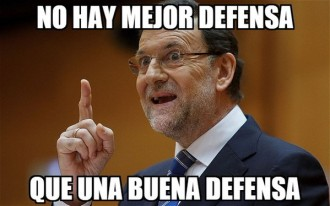 Vés a: La perla de Rajoy comentant el Madrid: «No hi ha millor defensa que una bona defensa»