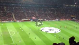 Vés a: Seguidors del Galatasaray criden «visca Catalunya» i insulten Espanya al Vicente Calderón