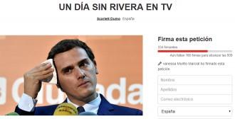 Vés a: Petició a Change.org per un dia sense Albert Rivera a la televisió
