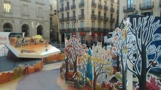 El primer pessebre de Barcelona en Comú