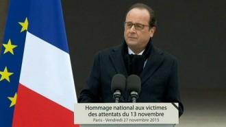 Hollande: «Faré tot el possible per destruir l'exèrcit dels fanàtics d'Estat Islàmic»