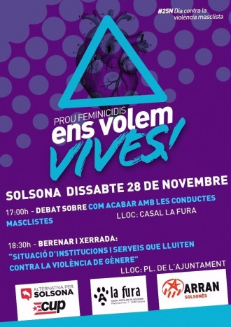 L'Esquerra Independentista del Solsonès commemora el dia contra la violència de gènere