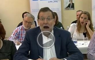 La cara de Rajoy quan una dona li diu «president de la República»