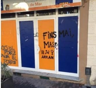 L'alcalde de Premià de Mar denuncia pintades d'Arran, organització vinculada a la CUP