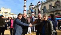 Els Castellers de les Gavarres reben el suport de tres colles gironines