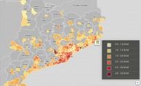 MAPA Els vigatans paguen l'aigua més cara dels grans municipis osonencs