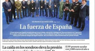 «La fuerza de España», a la portada de «La Razón»