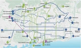 MAPA Així serà la xarxa d'autobusos de Barcelona a partir del 2016