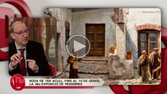 Antoni Bassas parla a TV3 de la mostra de pessebres de Roda de Ter