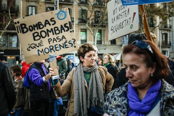 Torna el «no a la guerra» a Barcelona