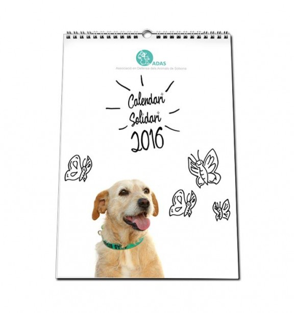 Surt a la venda el nou calendari de l'Associació de Defensa dels Animals de Solsona (ADAS)