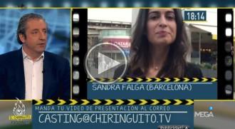 Sandra Falga es presenta al càsting d'«El chiringuito de los jugones»