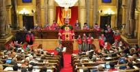 La Comparsa del Gegant Boig ocupa el Parlament