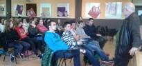 Arcadi Oliveres fa una xerrada a l'Institut Baix Penedès del Vendrell