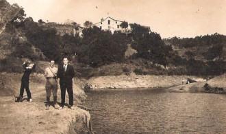 Pantà de la Xuriguera amb la masia de Can Guitart al fons / Foto: Rafel Comes