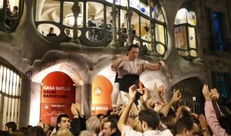 Els Minyons de Terrassa actuen a la Casa Batlló de Barcelona