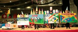 Joc de pintures guanya el concurs de disfresses infantil en categoria de muntatge