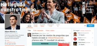 Vés a: Albert Rivera respon els usuaris de Twitter i se li gira en contra