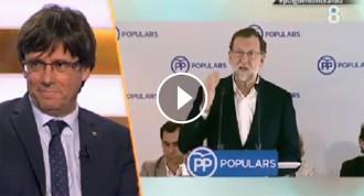Vés a: El «clatellot» de Carles Puigdemont a Mariano Rajoy