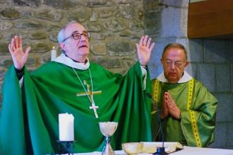 Visita pastoral del bisbe Saiz Meneses a quatre parròquies del Baix Montseny
